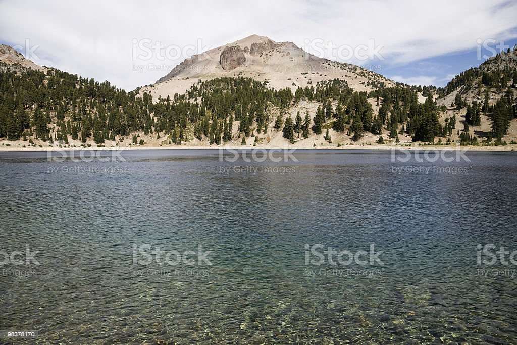 Lake Helen and Lassen Peak royalty-free stock photo