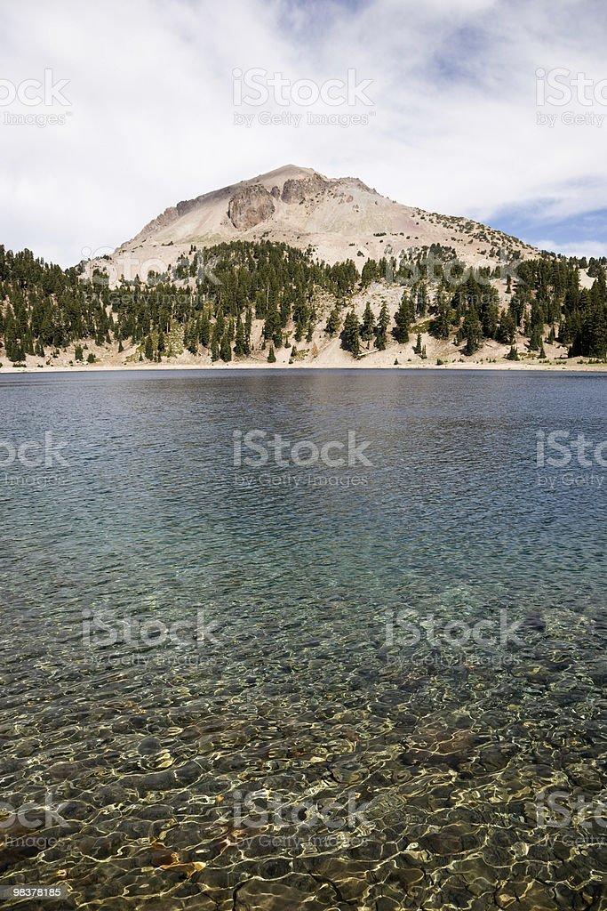 Lake Helen and Lassen Peak royalty-free stock photo