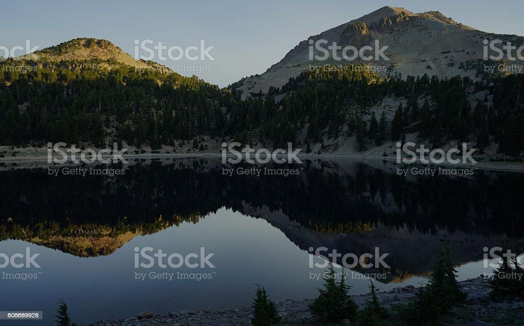 Lake Helen Mirror stock photo