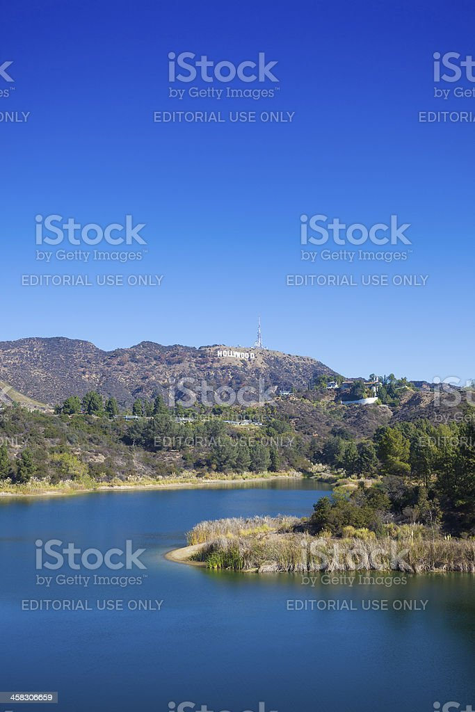 Lake Hollywood stock photo