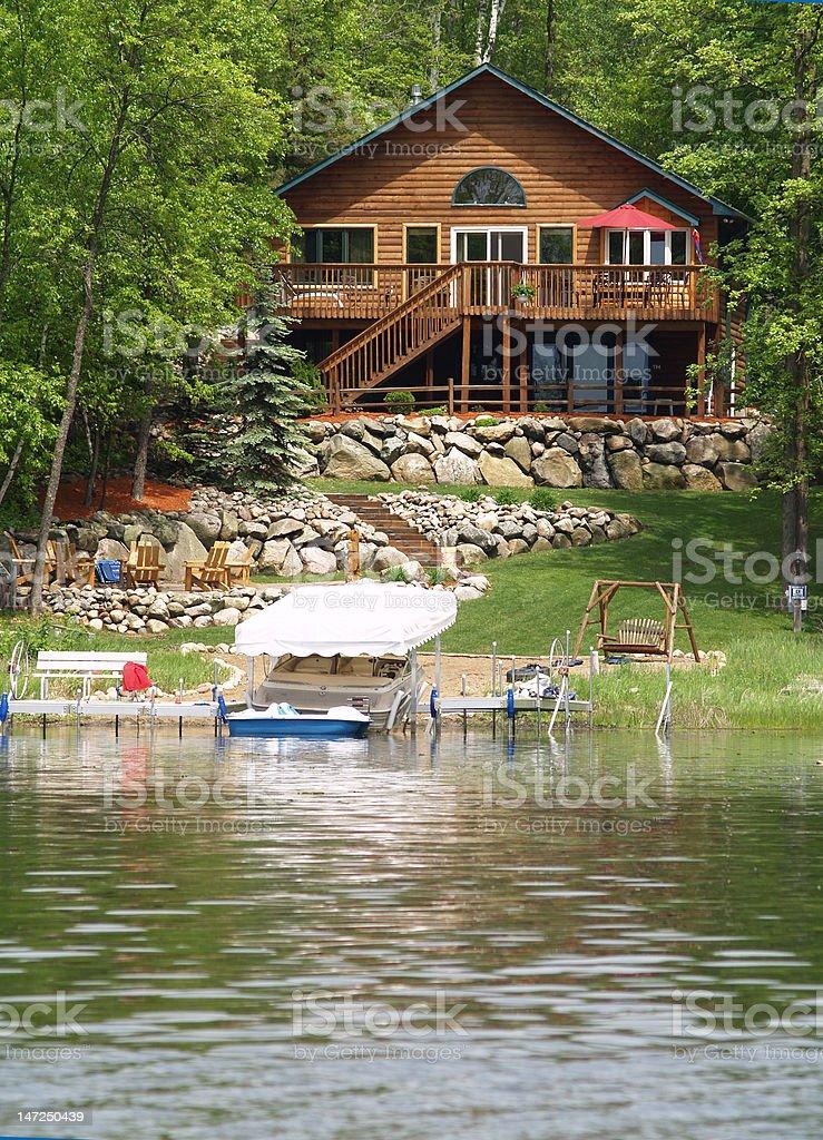 Lake Home royalty-free stock photo