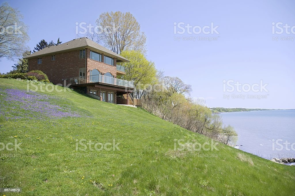 Lake House royalty-free stock photo