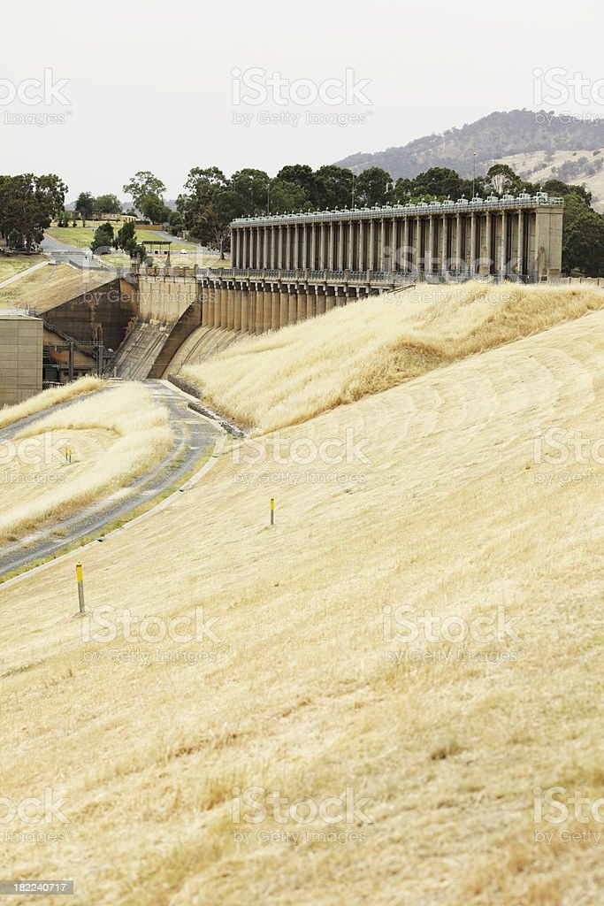Lake Hume Dam Wall stock photo