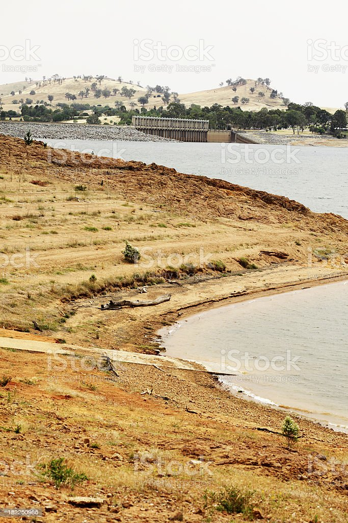 Lake Hume Drought stock photo