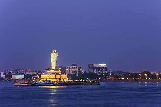 lake Hussain Sagar, Hyderabad, India