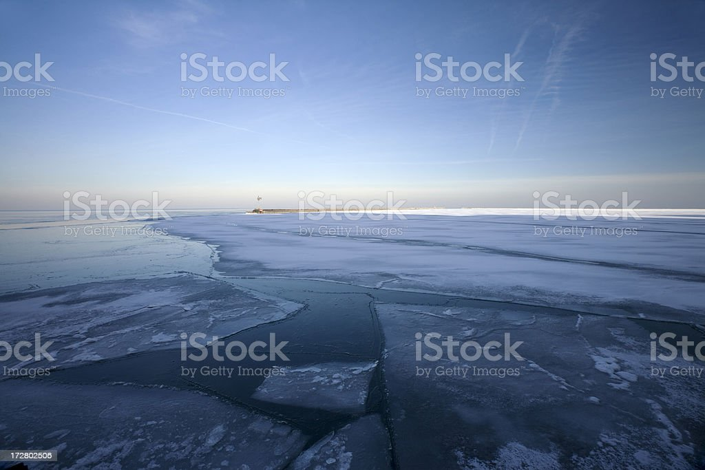 Lake Ice Chicago stock photo