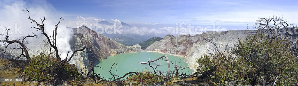 Lake in a crater of volcano Ijen royalty-free stock photo