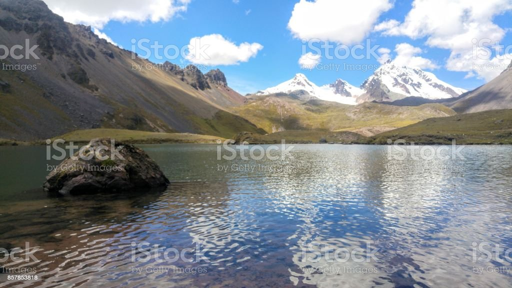 lake in Ausangate stock photo