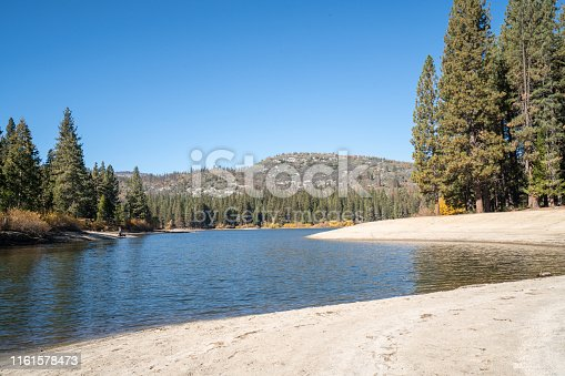 Lake in Autumn, Sequoia national park, USA