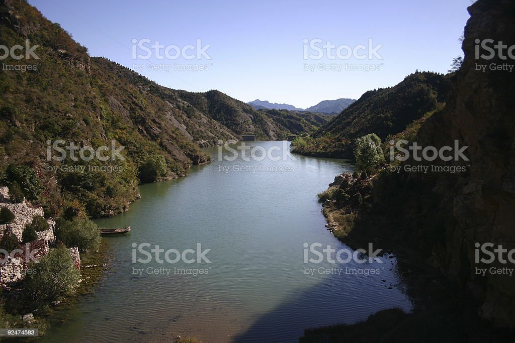 Lake in Badling, China royalty-free stock photo