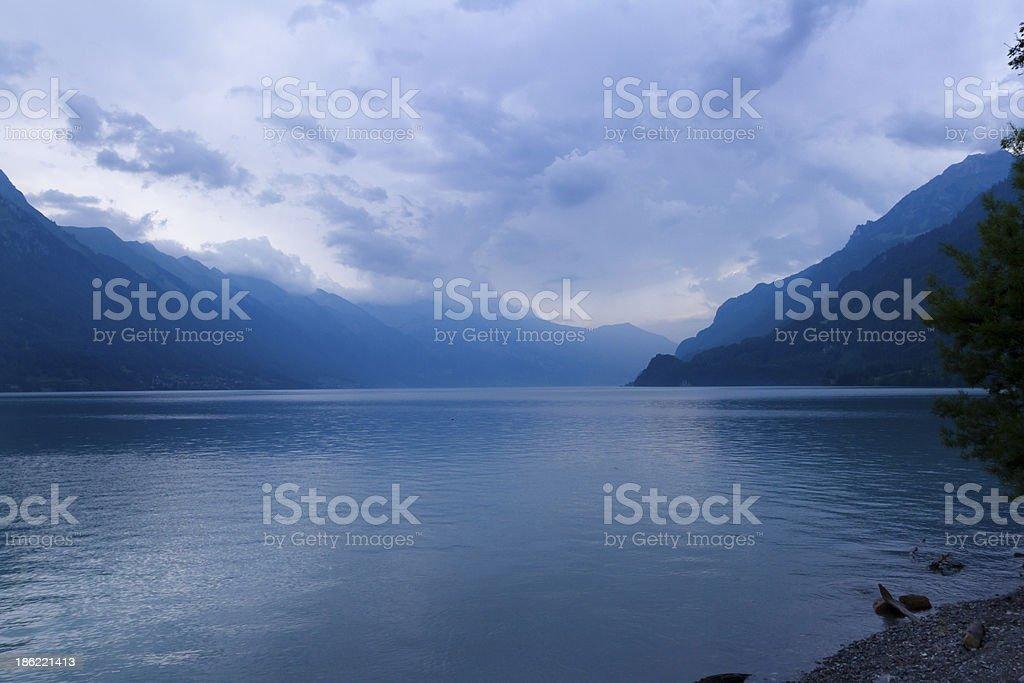 Lake in Brienz. Switzerland royalty-free stock photo