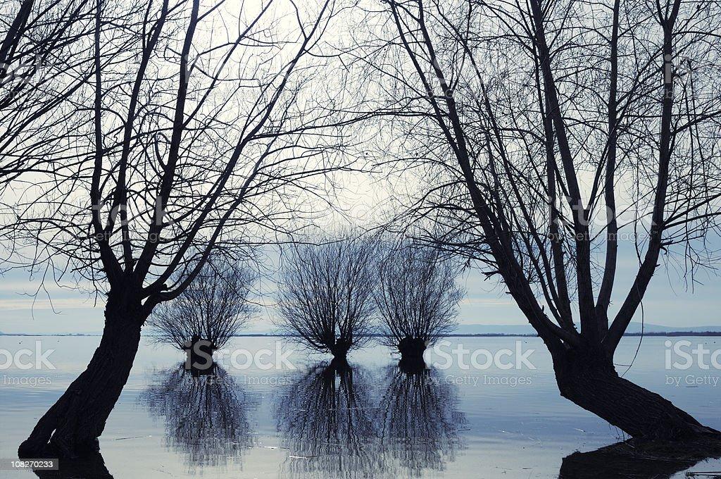 Lake in Civril, Denizli, Turkey stock photo