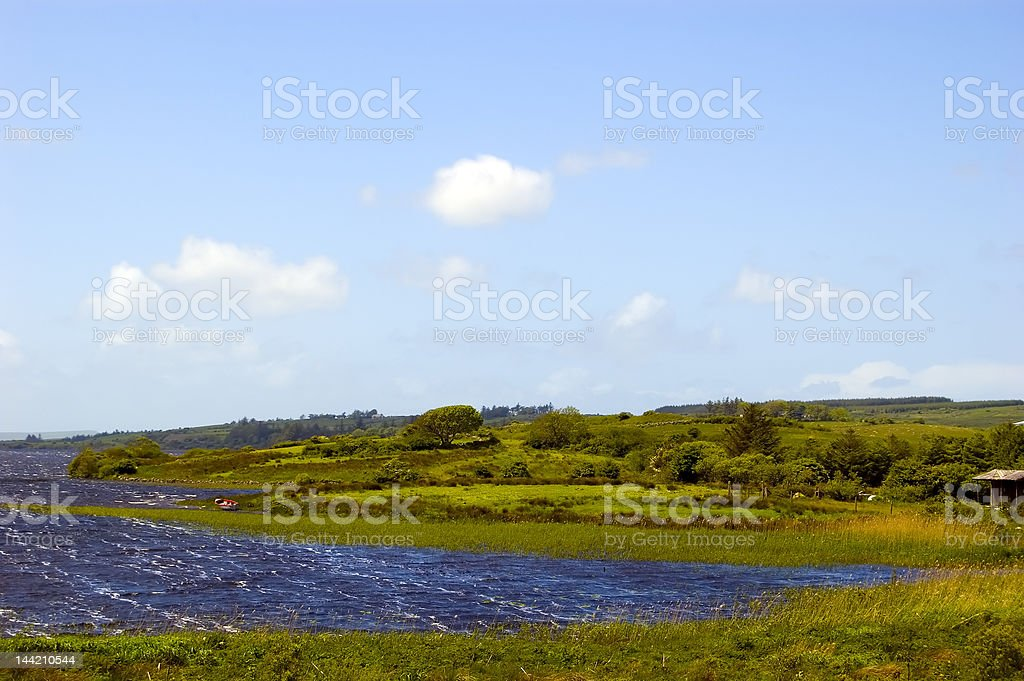 Lake in Connemara.Ireland royalty-free stock photo