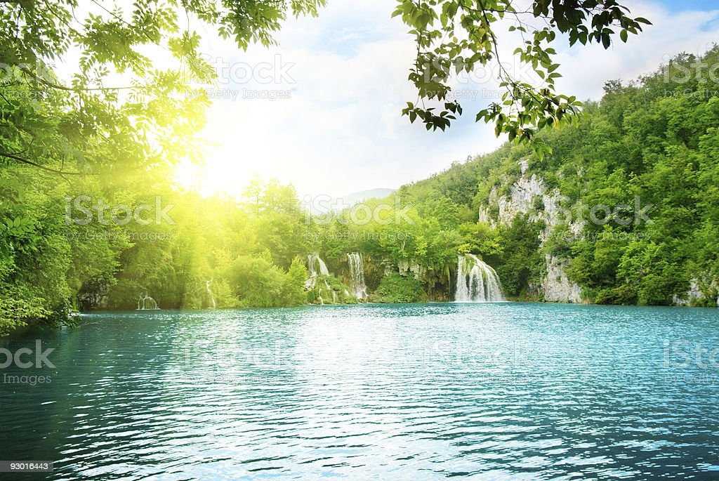 lake in deep mountain forest royalty-free stock photo