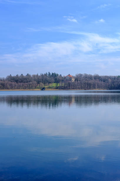 Lake in Early Spring stock photo