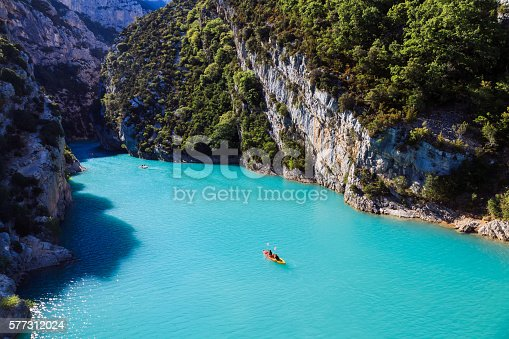 Landscape of Provence - Lac de Sainte-Croix - gorges du Verdon - French Riviera