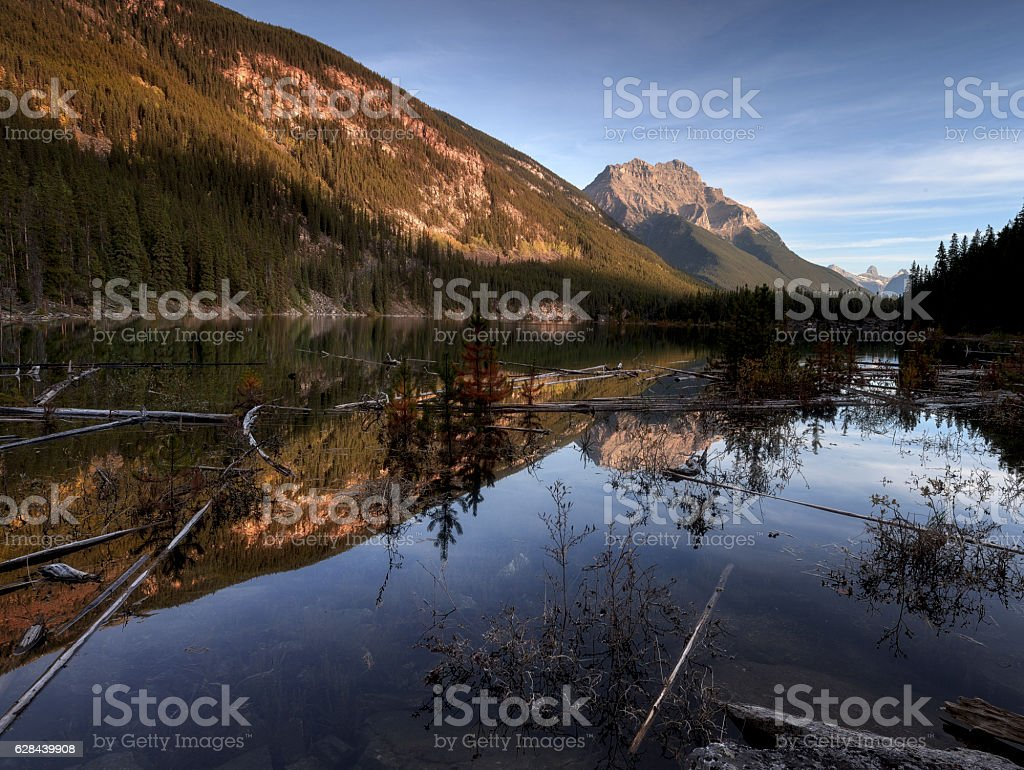 Lake in Icefields Parkway stock photo