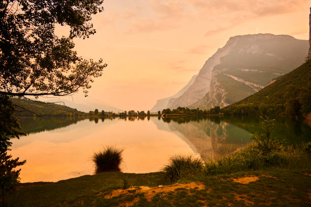 lake in Italy stock photo