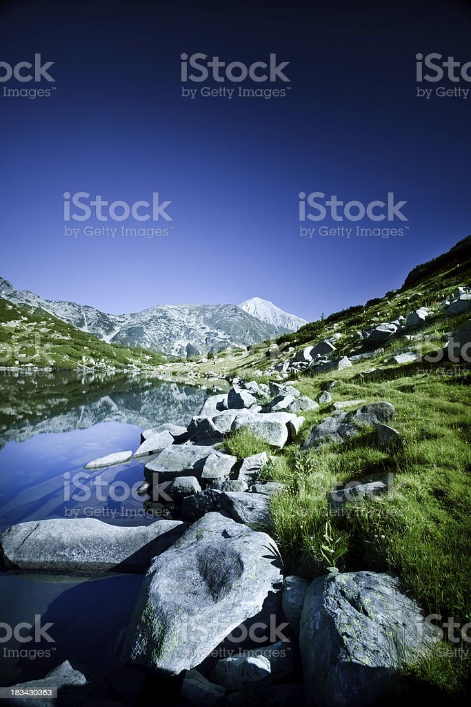 Lake in mountains royalty-free stock photo