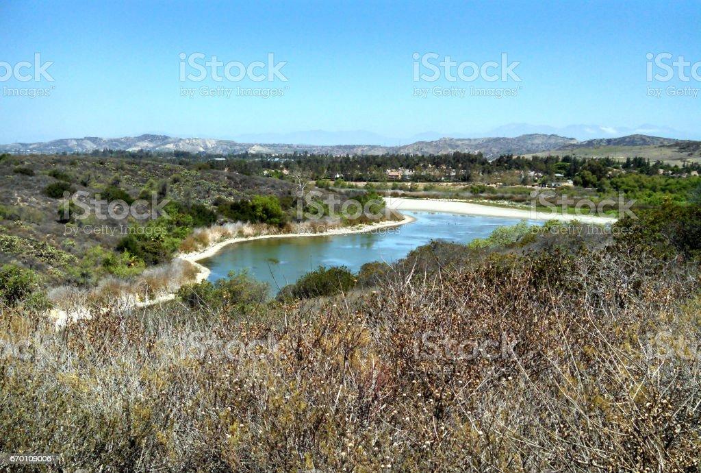 A Lake in Orange County stock photo