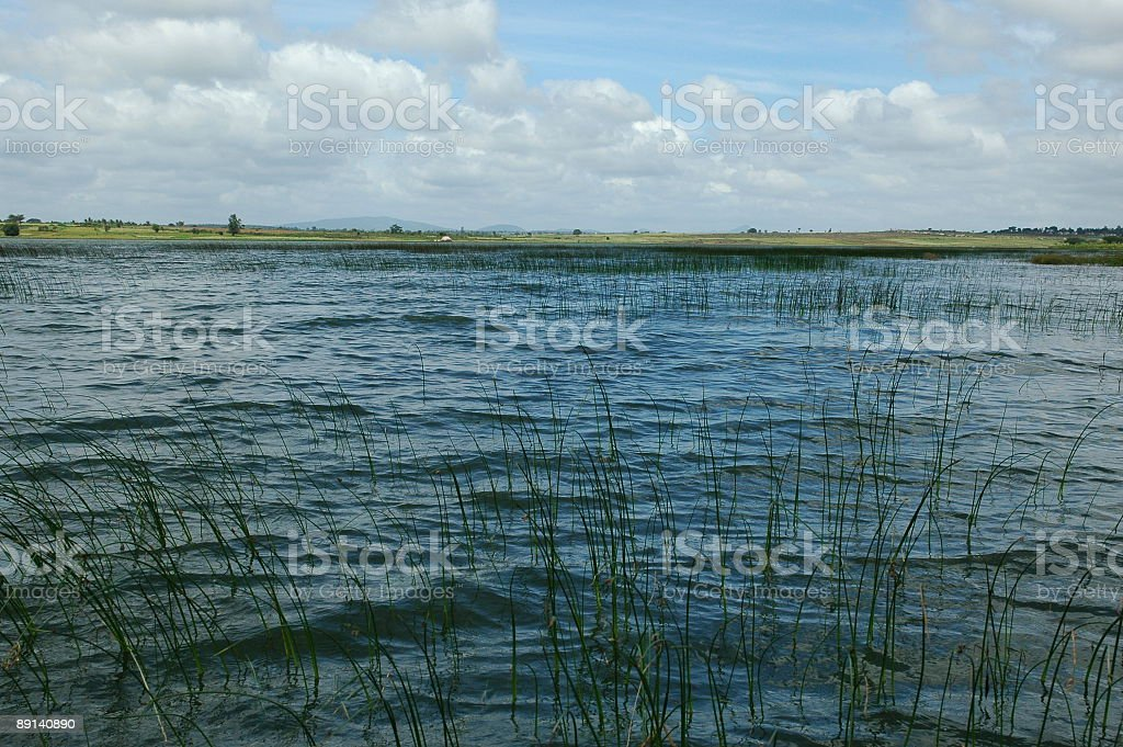 'Lake in Prairie' stock photo