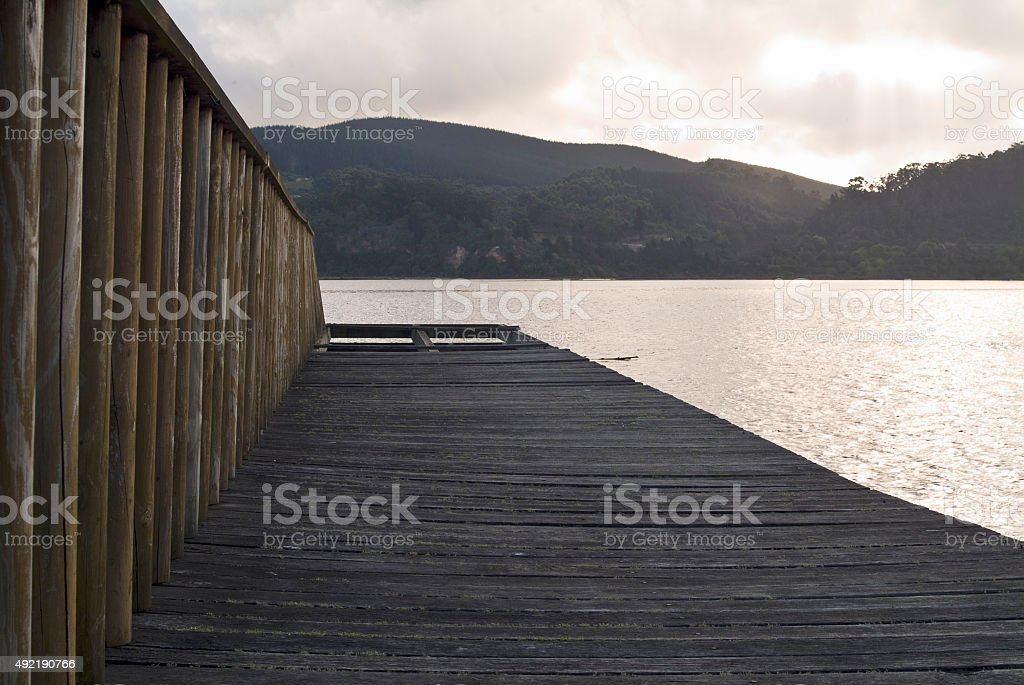 Lake in South Africa stock photo