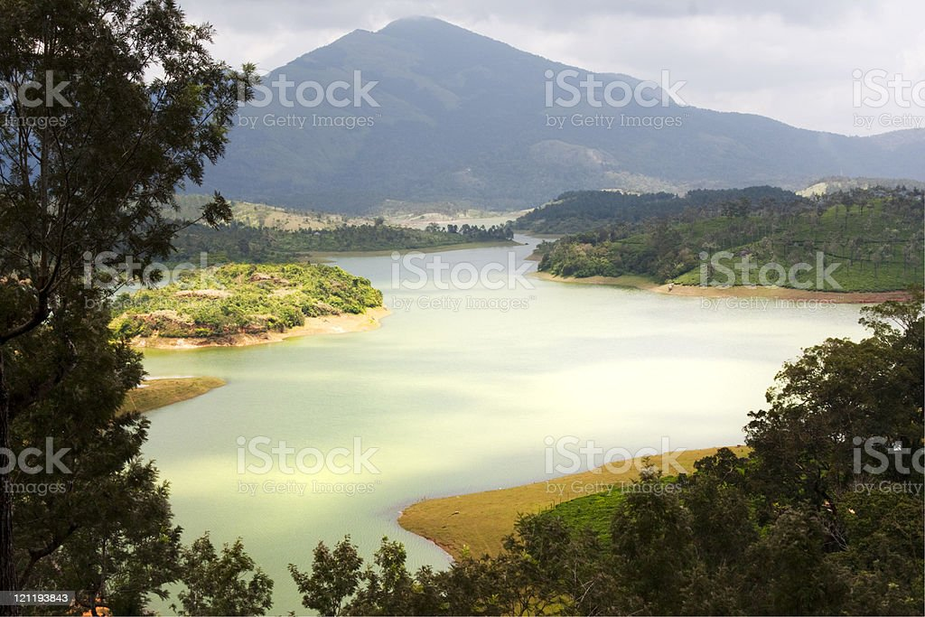 Lake in Southern India royalty-free stock photo