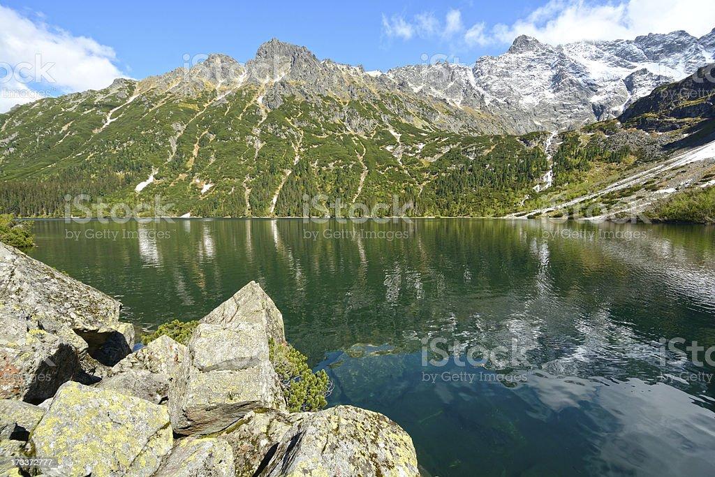 Lake in Tatras royalty-free stock photo