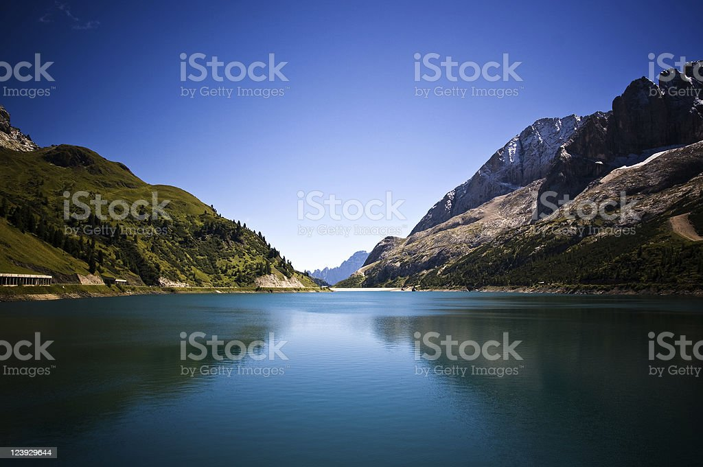 Lake in the Alps royalty-free stock photo