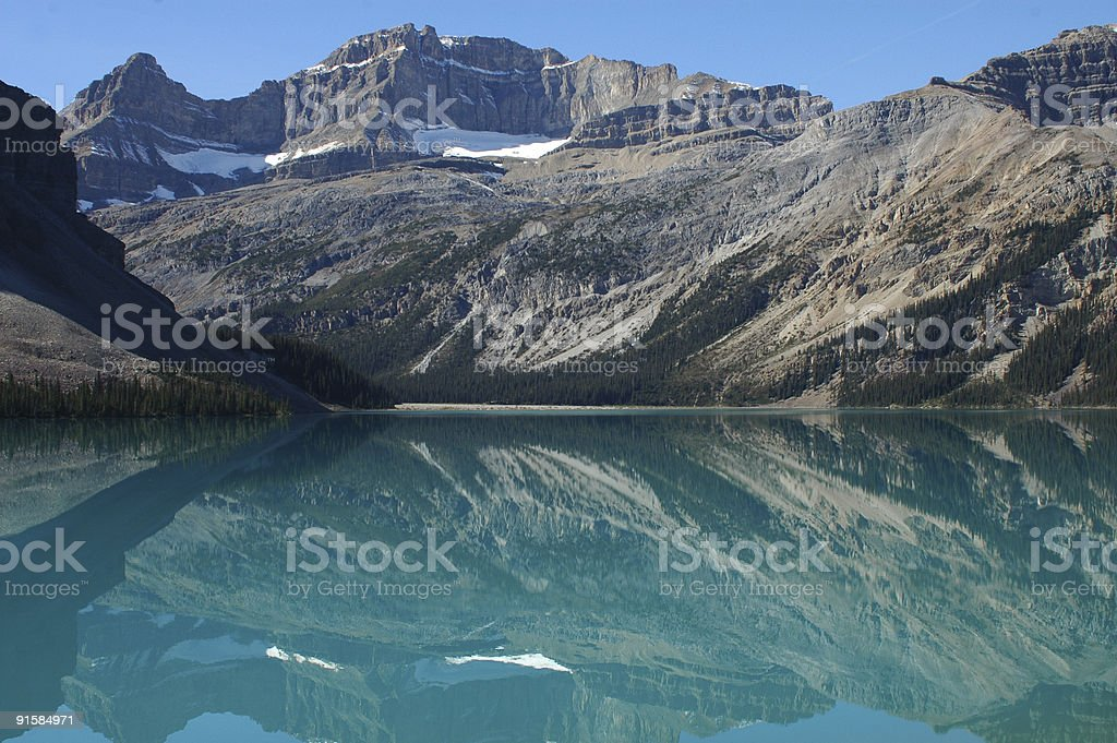 Lake in the Canadian Rockies stock photo
