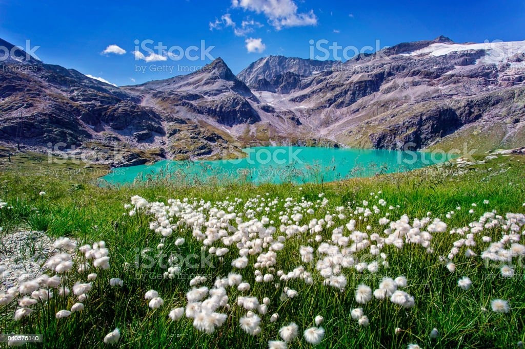 Lake in the High Tauern National Park stock photo