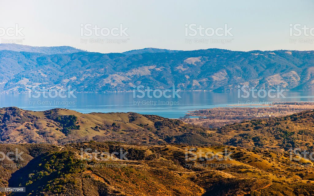 Lake in the Hills royalty-free stock photo