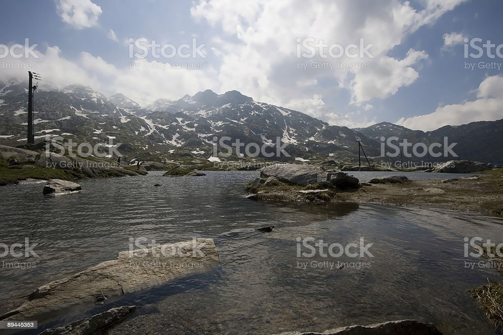 Lake in the mountain royalty-free stock photo
