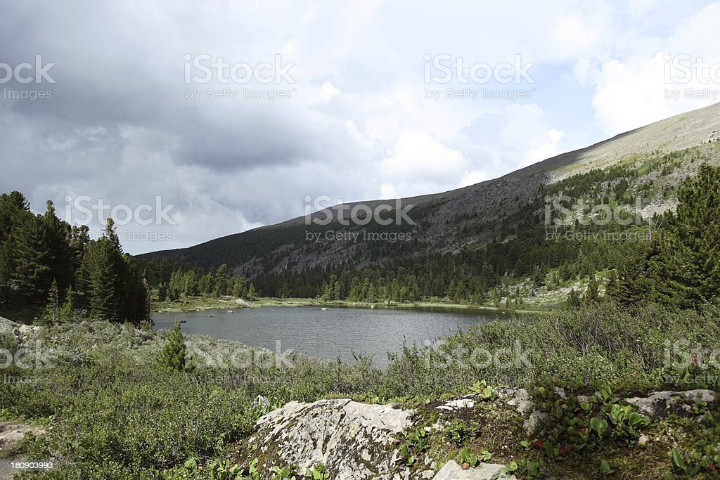 Lake in the mountains royalty-free stock photo