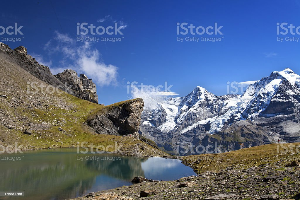 Lake in the mountains with reflexion royalty-free stock photo