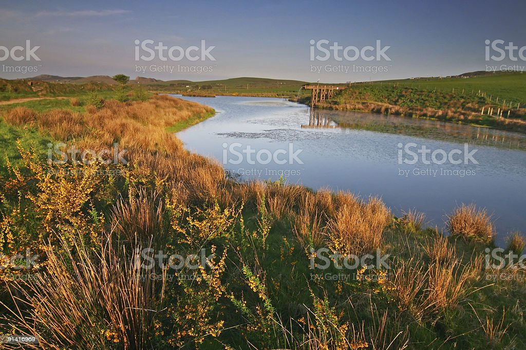 lake in the north Wales royalty-free stock photo