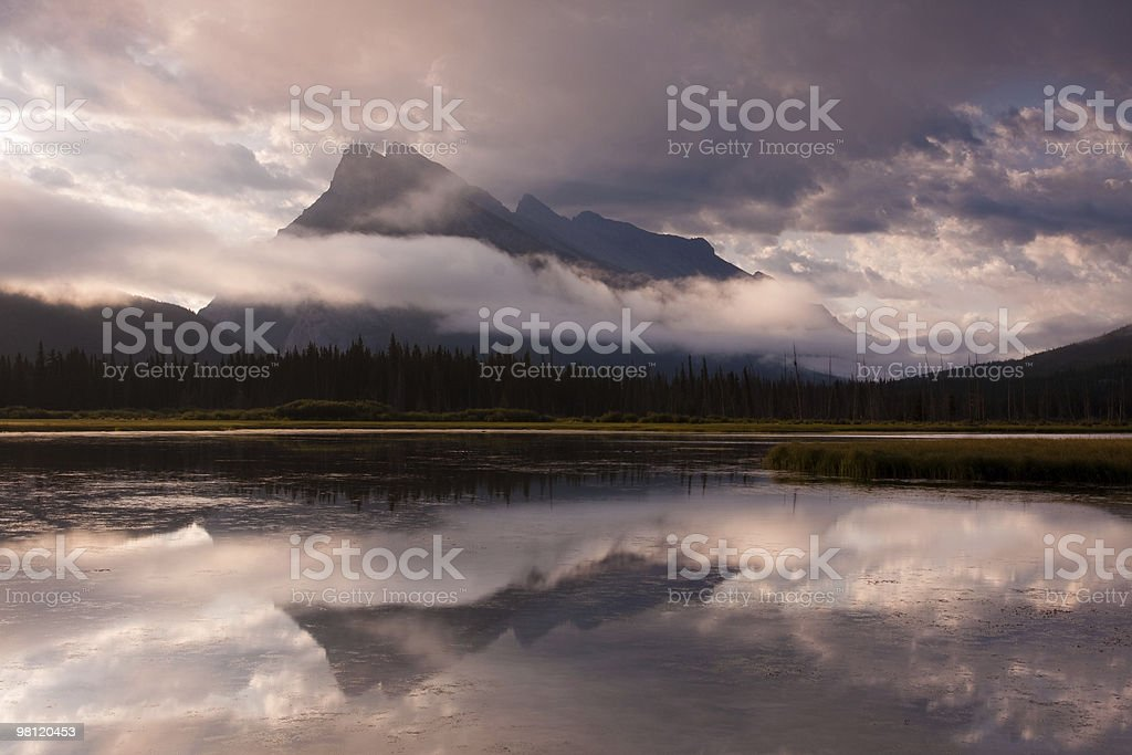 Lake in the Rockies royalty-free stock photo