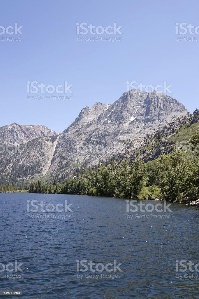 Lake in the Sierra Nevadas royalty-free stock photo