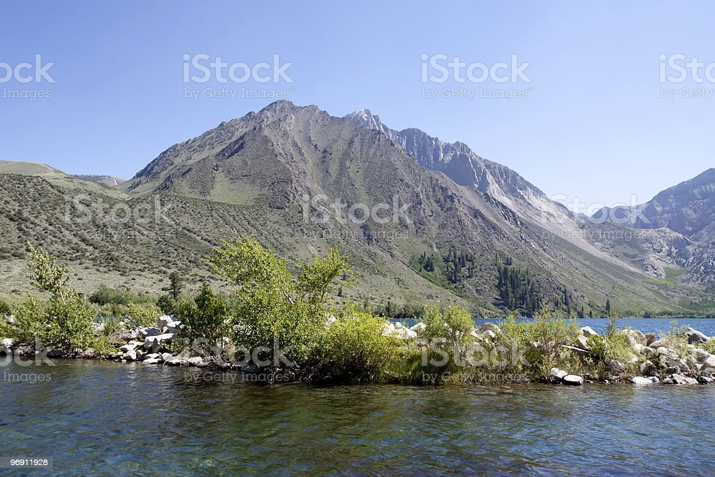 Lake in the Sierra Nevadas royalty-free stock photo