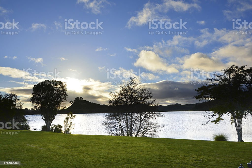 Lake in the spring park. royalty-free stock photo