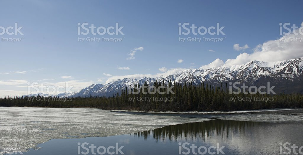 Lake in the Yukon royalty-free stock photo