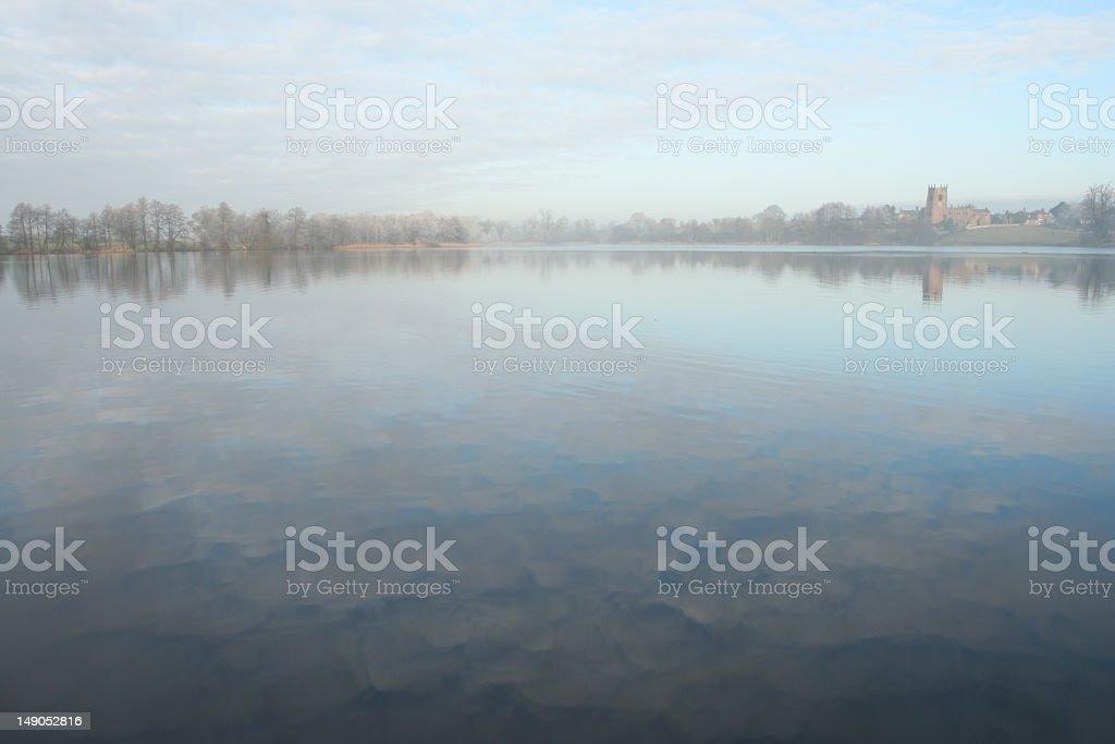 Lake in winter royalty-free stock photo