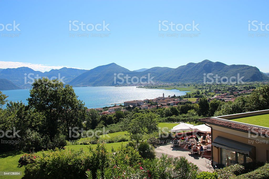 Lake Iseo stock photo