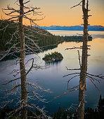 Little island at lake Tahoe