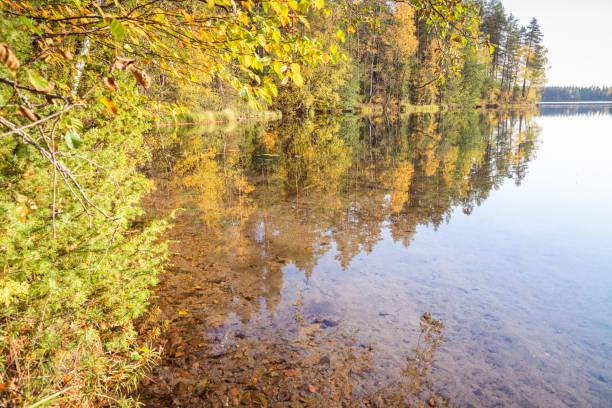 Lake Iso-Melkutin hiking and trekking area stock photo