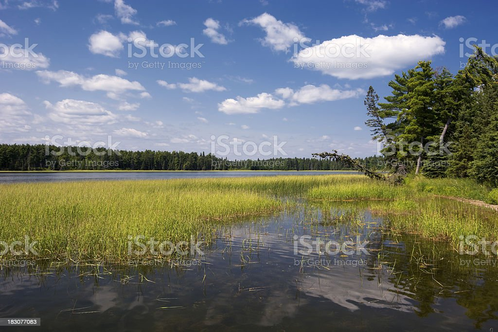 Lake Itasca in State Park, Northern Minnesota, USA. stock photo