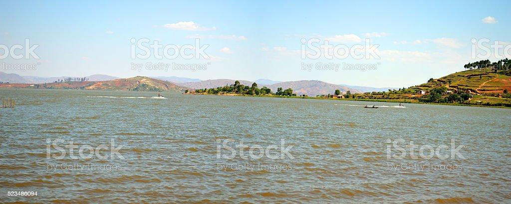 Lake Itasy in the region D'itasy Madagascar stock photo