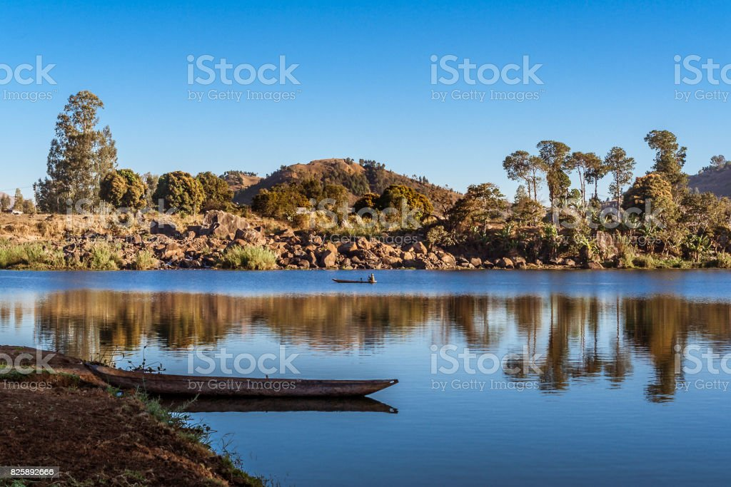 Lake Itasy stock photo