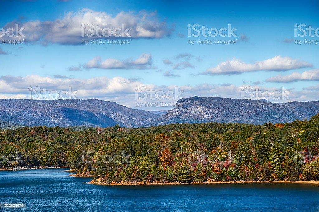 Lake James, North Carolina stock photo