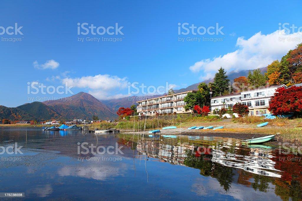 lake Kawaguchi japan stock photo